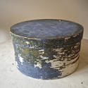 19th centuiry American round blue pantry box - picture 1