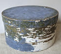19th centuiry American round blue pantry box - picture 2