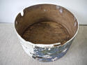19th centuiry American round blue pantry box - picture 5