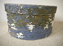 19th centuiry American round blue pantry box - picture 8