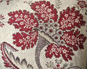 18th century French red and white flower cushion - picture 2