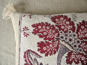 18th century French red and white flower cushion - picture 4