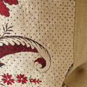 18th century French red and white flower cushion - picture 6