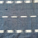 Early 19th century French indigo flamme ikat panel - picture 2