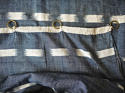 Early 19th century French indigo flamme ikat panel - picture 5