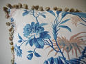 19th century French blue leaves cushion - picture 5