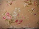 Early 20th century French red floral cotton cushion - picture 2