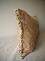 Early 20th century French red floral cotton cushion - picture 4