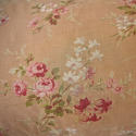 Early 20th century French red floral cotton cushion - picture 5