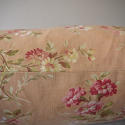Early 20th century French red floral cotton cushion - picture 6