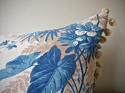 19th century French blue fern leaves cushion - picture 4