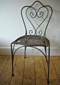 Late 19th century French green garden chair - picture 1