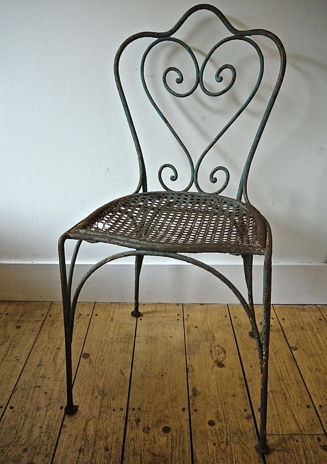Late 19th century French green garden chair
