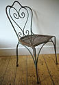 Late 19th century French green garden chair - picture 2