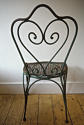 Late 19th century French green garden chair - picture 3