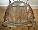 Late 19th century French green garden chair - picture 9