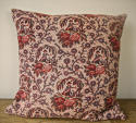 18th century French Bolbec naive toile cushion - picture 1