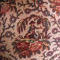 18th century French Bolbec naive toile cushion - picture 2