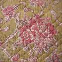 19th century French faded rose pink flowers cushion - picture 2