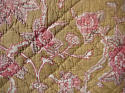 19th century French faded rose pink flowers cushion - picture 4
