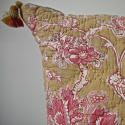 19th century French faded rose pink flowers cushion - picture 5