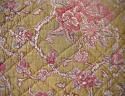 19th century French faded rose pink flowers cushion - picture 3