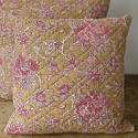 19th century French faded rose pink flowers cushion - picture 6