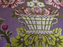 18th century French lilac pink floral silk cushion - picture 3