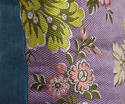 18th century French lilac pink floral silk cushion - picture 4