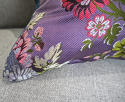 18th century French lilac pink floral silk cushion - picture 6