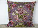 18th century French lilac pink floral silk cushion - picture 7