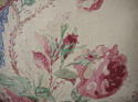 Early 20th century French parrot roses linen cushion - picture 3