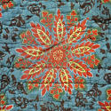 19th century French blockprinted quilt section - picture 3