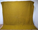 Early 20th century French mustard cotton quilt - picture 1