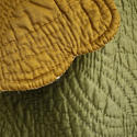 Early 20th century French mustard cotton quilt - picture 2
