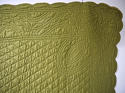 Early 20th century French mustard cotton quilt - picture 3