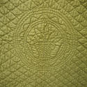 Early 20th century French mustard cotton quilt - picture 4