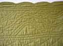 Early 20th century French mustard cotton quilt - picture 5