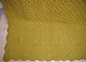 Early 20th century French mustard cotton quilt - picture 7