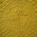 Early 20th century French mustard cotton quilt - picture 8
