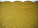 Early 20th century French mustard cotton quilt - picture 9