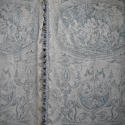 Pair of 19th century French blue toile linen curtains - picture 1