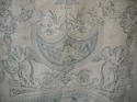 Pair of 19th century French blue toile linen curtains - picture 5