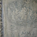 Pair of 19th century French blue toile linen curtains - picture 6