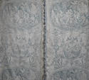 Pair of 19th century French blue toile linen curtains - picture 7