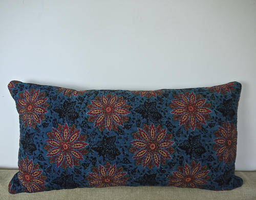 Early 19th century French blockprinted  cushion