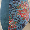 Early 19th century French blockprinted  cushion - picture 4