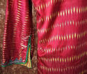 Early 20th century Aleppo red silk ikat robe - picture 10