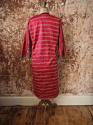 Early 20th century Aleppo red silk ikat robe - picture 2