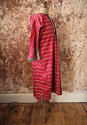 Early 20th century Aleppo red silk ikat robe - picture 3